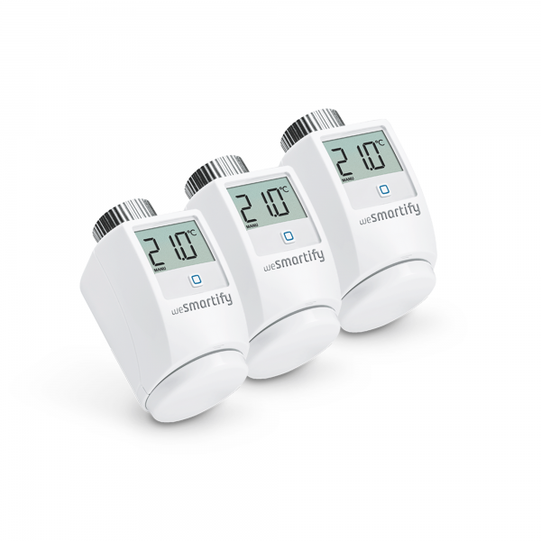 wesmartify 3er-Set Heizkörperthermostat, weiß - Homematic IP kompatibel