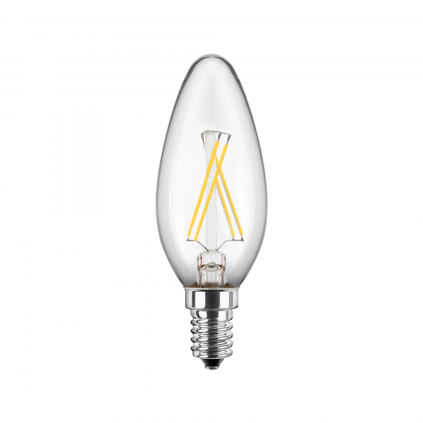 3er-Set BLULAXA® LED Filament Lampe Kerzenform 4 Watt WW