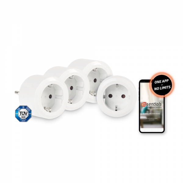 4er-Set essentials Smart Home Schaltsteckdose 10 A