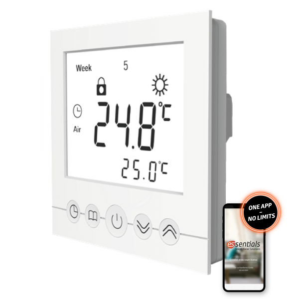 essentials Smart Home Wandthermostat Fußbodenheizung
