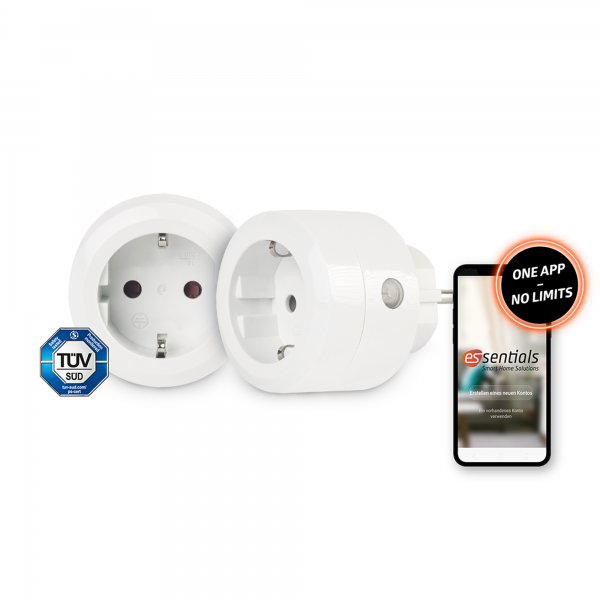 2er-Set essentials Smart Home Schaltsteckdose 10 A